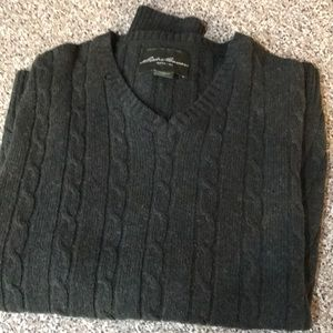 Men's cable pullover sweater